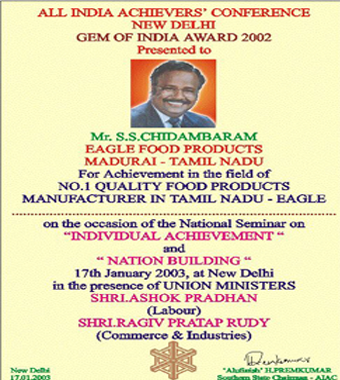 Gem of India Award